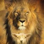 jeviensbientot - lion agneau